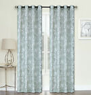 2 Pack: Shabby Chic Semi Sheer Cherry Blossom Curtains - Assorted Sizes & Colors