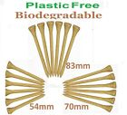 70mm Golf Tees Tee BAMBOO WOOD (Wooden) BIODEGRADABLE ZERO WASTE. PLASTIC FREE