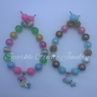 Deer and Unicorn Clay Chunky Bubblegum Necklace
