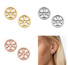 Brand New Tory Burch Logo Circle Stud Earrings With Dust Bag