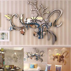 3d Mirror Floral Art Removable Wall Sticker Acrylic Mural Decal Home Room Decors