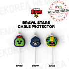 BRAWL STARS x LINE FRIENDS Cable Protection Cap CROW LEON SPIKE Official Goods