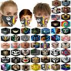 Reusable Washable Face Mask Protect Fashion Design Nose Clip Adult Kids +filters