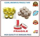 TAPE STRONG CLEAR BROWN FRAGILE LONG LENGTH TAPE 48mm x 66M PACKING MULTILISTING