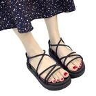 Women Ankle Strap Wedge Creeper Platform Cross Strappy Sandals Beach New Shoes B