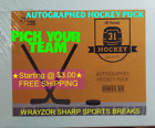*PICK YOUR TEAM*  *AUTOGRAPHED HOCKEY PUCK*  2019/20 HIT PARADE *BOX BREAK $3.0 USD on eBay