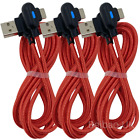 3Pack 6Ft 90 Degree Right USB Type C Cable Fast Charger Heavy Duty Charge Cord