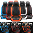 Waterproof Car Seat Covers 5-Seats Top PU Leather Cushions w/Steer Interior Set $139.68 USD on eBay