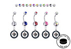 Winnipeg Jets Silver Belly Button Navel Ring - Customize Gem Color - NEW $39.99 USD on eBay