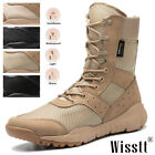 New Mens Work Boots Waterproof Military Tactical Army Combat Hiking Ankle Bootie