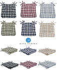 Gingham Plaid Checkered Country Farmhouse Chair Cushions - Assorted Colors