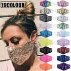 Women Sequin Bling Face Mask Reusable With Filter Pad Face Cover Masks Hot