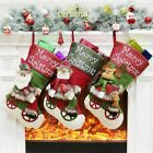 Christmas Large Stockings Hanging Tree Home Kids New Year Ornaments Decoration