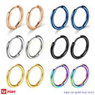 3 Pairs Huggie Hoop Earrings Surgical Steel Cartilage Helix Lobes Hinged Sleeper