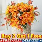 Silk Artificial Bouquet Flowers Decor Wedding Party Home Peony Fake Rose Bunch