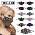Fashion Women Sequin Bling Face Mask Reusable With Filter Pad Face Cover Masks