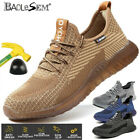 Men's Work Safety Shoes Steel Toe Bulletproof Boots Indestructible Sneakers Size