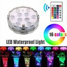 Remote Control RGB 16 Colour Changing Underwater Pond Aqua Mood LED Lights 1-20x
