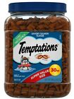 TEMPTATIONS Classic Crunchy and Soft Cat Treats Tasty Chicken Flavor 30 oz. Tub