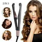 Negative Ions Hair Straightener And Curling Iron 2 in1 Hair Curler Tool Pro Hot