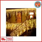 LED Curtain Icicle String Lights Christmas Lights For Outdoor Garland Decoration