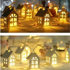 Garland Wood House Christmas Decoration String Light 2M Novelty Lamp Fairy Light