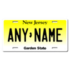 US Metal License Plate - New Jersey - Customise your own plate