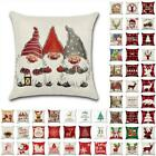 "18"" Us Christmas Xmas Cushion Cover Pillow Case Sofa Home Decor Reindeer Snow"