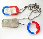 Personal ID Dog Tags Polished Stainless Steel Dog Tags With Chains & Silencers D