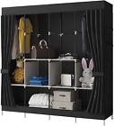 Yayi Canvas Wardrobe Portable Shelves Clothes Storage Organiser With 4