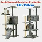 Large Cat Tree Climbing Tower Scratching Post Activity Centre Bed Dark Grey Toy