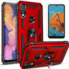 For Motorola Moto E 2020 Phone Case, Kickstand Cover + Tempered Glass Protector
