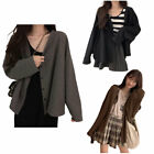 [Daymuse] With U Fall Loose Fit Long-Sleeve V-Neck Sweater Cardigan - 3colors
