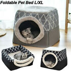 Soft Foldable Dog Cat House Nest Tent Removable Puppy Bed Cave Pet Kennel Warm