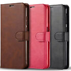 For Samsung Galaxy A20s Case, Premium Leather Wallet + Tempered Glass Protector