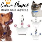 Bling Sparkle Crown-Shaped Dog Tags Pet Tag Cat Tags Charm Engraved Personalized