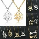 2020 Christmas Tree Elk Stainless Steel Pendants Fashion Necklace Jewelry New