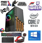 Fast Intel I7 10700f Gaming Pc Computer 2tb + 480gb 16gb Ram Gtx 1660 Windows 10