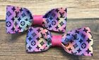 Girl Toddler Baby Trendy Fashion Hair Clips Bows Rainbow Ombr  Letters