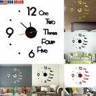 2020 Modern Large Wall Clock 3D Mirror Sticker Unique Big Number Watch DIY Decor