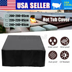 US Hot Tub Spa Cover Cap Guard Waterproof Dust Protector Harsh Weather 3 Sizes