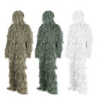 5 in1 Camo Ghillie Suit Kit Camouflage Woodland Forest Tactical Hunting Clothing