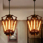Industrial Steampunk Tube Cage Pendant Light Chandelier Kitchen Bar Ceiling Lamp