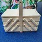 Personalised Wooden Thread Box Natural Wood Sewing Box with 5 Cases Keepsake