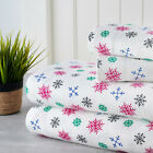 Bibb Home 100% Cotton Printed Flannel Sheet Set - Cozy, Soft, Deep Pocket Sheets