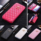 For Iphone 12 Pro Max Luxury Flip Leather Bling Glitter Wallet Card Slot Case