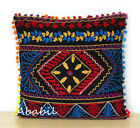 "24"" Square Suzani Cushion Cover 18"" Embroidery Pillowcase 16"" Pillow Cover D2"