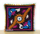 "24"" Square Suzani Cushion Cover 18"" Embroidery Pillowcase 16"" Pillow Cover D3"