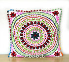 "24"" Square Suzani Cushion Cover 18"" Embroidery Pillowcase 16"" Pillow Cover D12"