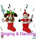 'Singing & Dancing Santa Reindeer Christmas Stocking Fun Kids Plush Xmas Personal